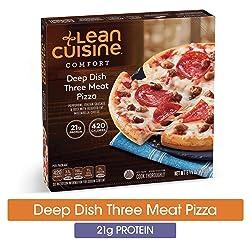 LEAN CUISINE COMFORT Deep Dish Three Meat Pizza 6.38 oz. Box   Delicious Frozen Meals