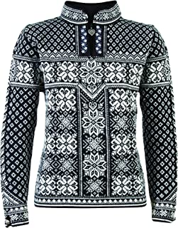 Dale of Norway Women's Peace Sweater, Black/Off White, Medium
