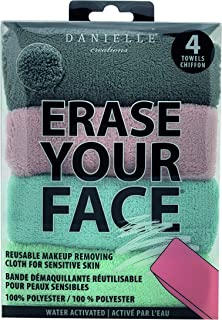 DANIELLE - Erase Your Face 4 Piece Cloth Set (Gray, Pink, Blue, Green)
