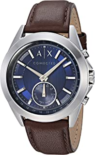 Armani Exchange Men's Digital Watch smart Display and Leather Strap AXT1010