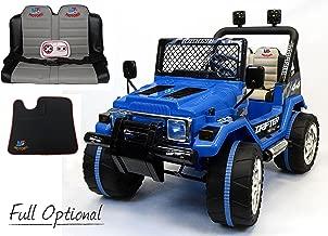 Auto Elettrica Per Bambini e Telecomando Jeep Radiocomandata 2 Posti 12v Blue
