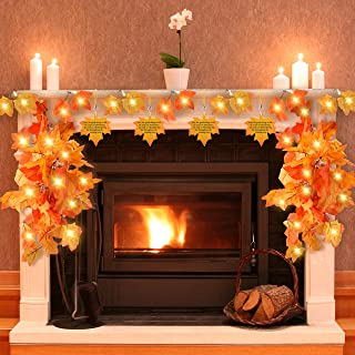 Thanksgiving Decorations for Home,Thanksgiving Lights for Table,Outdoor,Fall Maple leaf lights for Party Thanksgiving Décor