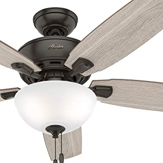 Hunter Fan 52 inch Casual Noble Bronze Finish Indoor Ceiling Fan with LED Lights (Renewed)