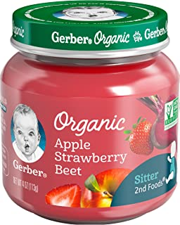 Gerber Purees Organic Foods Strawberry