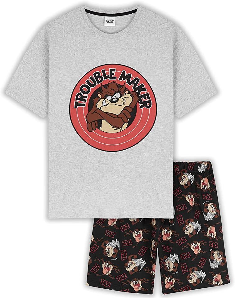 Mens Pyjamas, Funny Character PJs, Short Loungewear Gifts for Men