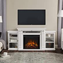 Real Flame Media Calie Electric Fireplace in White