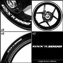 Stickman Vinyls Motorcycle Decal Gloss White Graphic Kit For Suzuki GSXR 1000