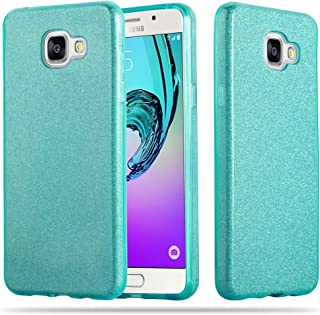 Cadorabo – Luxurious Glitter TPU Hard Case Works with > Samsung Galaxy A5 (7) - Model 2017 < - Etui Skin Bumper Slim Case Silicone Protective Cover in Stardust-Turquoise