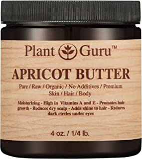 Apricot Body Butter 4 oz. 100% Pure Raw Fresh Natural Cold Pressed. Skin, Hair, Nail Moisturizer, DIY Creams, Balms, Lotions, Soaps.