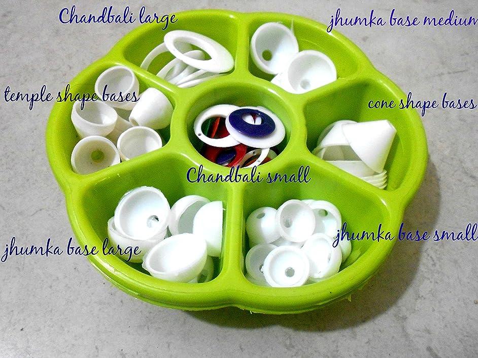 GOELX Plastic Jhumka Base Kit Gift Box Includes- Jhumka Base Large, Medium And Small, Chandbali Small And Large, Cone Shape Bases And Temple Shape Bases And Many More