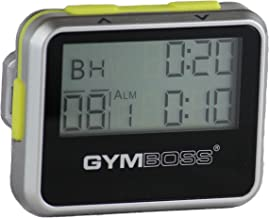Gymboss Interval Timer and Stopwatch - Silver/Yellow Metallic Gloss