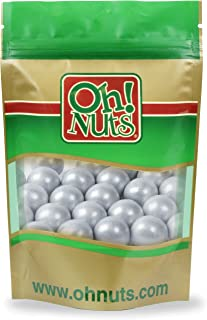 Silver Shimmer Pearl Gumballs 4 Pound Bag - Oh! Nuts