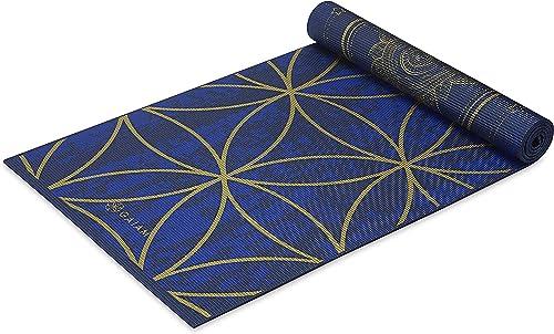 Gaiam Yoga Mat - Premium 6mm Print Reversible Extra Thick Non Slip Exercise & Fitness Mat for All Types of Yoga, Pila...
