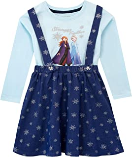 Disney Girls' Frozen Pinafore Dress and Top