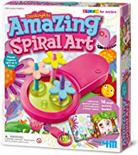 4M Thinking Kits Amazing Spiral Art from STEAM for Juniors, Flower Toppers Spin as The Motorized Art Spinner Draws 16-Page...