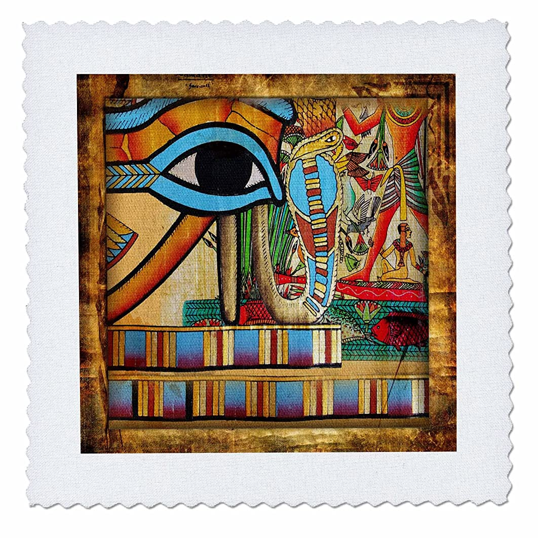 3dRose qs_99469_4 Egyptian Abstraction-Quilt Square, 12 by 12-Inch