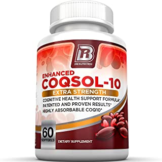 BRI Nutrition COQ10 100mg Ubiquinone Heart Health - 2.6X Higher Total Coenzyme Q10 COQSOL® Absorption Than Normal COQ10 100mg Maximum Strength Supplement - 60 Day Supply 60 Softgels