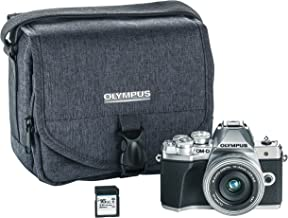Olympus OM-D E-M10 Mark III camera kit with 14-42mm EZ lens (silver), (Renewed)