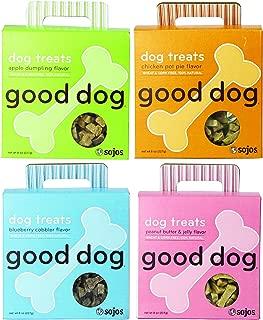 Sojos Good Dog Treats Mixed 8 oz x 4 packs – Apple Dumpling, Chicken Pot Pie, Blueberry Cobbler, and Peanut Butter & Jelly Flavors