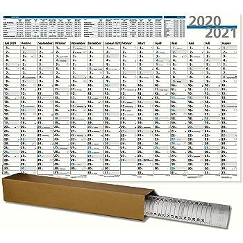 SCHULJAHRESPLANER,SCHÜLERKALENDER 2020//21 DIN A1 84,1 X 59,4 CM gerollt