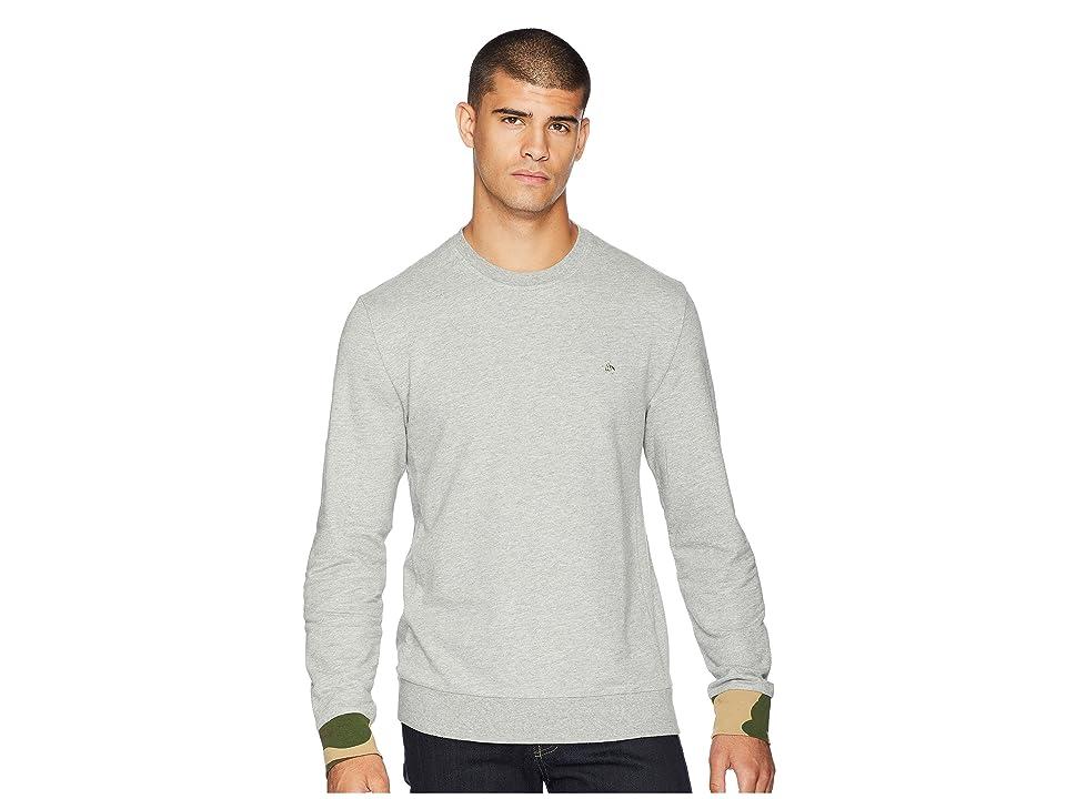 Original Penguin Long Sleeve Camo Cuff Crew Neck Sweatshirt (Rain Heather) Men