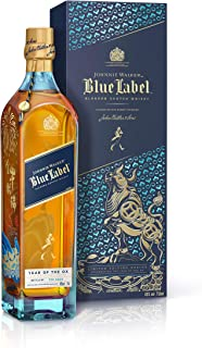 Johnnie Walker Blue Label Blended Scotch Whisky, Chinese New Year – Year of the Ox 2021 – Limited-Edition Design im Geschenkkarton, 70cl