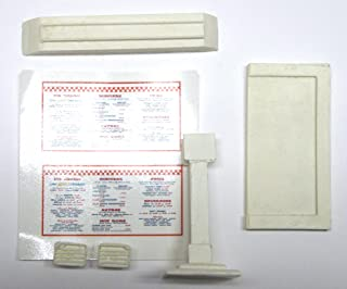 Three Inches Under 1:25 G Scale Model Diner carhop menu Board with Speaker