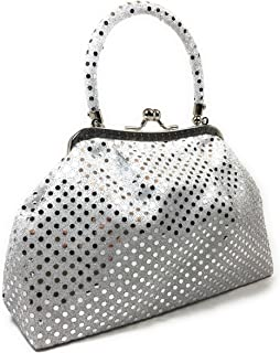 Handbag - Pouch Metallic White by WiseGloves, going out handbag clutch purse tote bag
