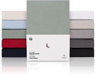 Blumtal Drap Housse 180/200 x 200/220 x 40 cm - 100% Coton Premium, Hypoallergénique, Anti Pli - Vert (x 1)