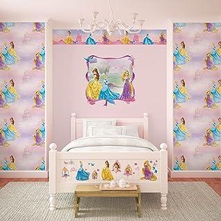 comprar comparacion Disney - Papel pintado para pared, diseño de princesas Disney