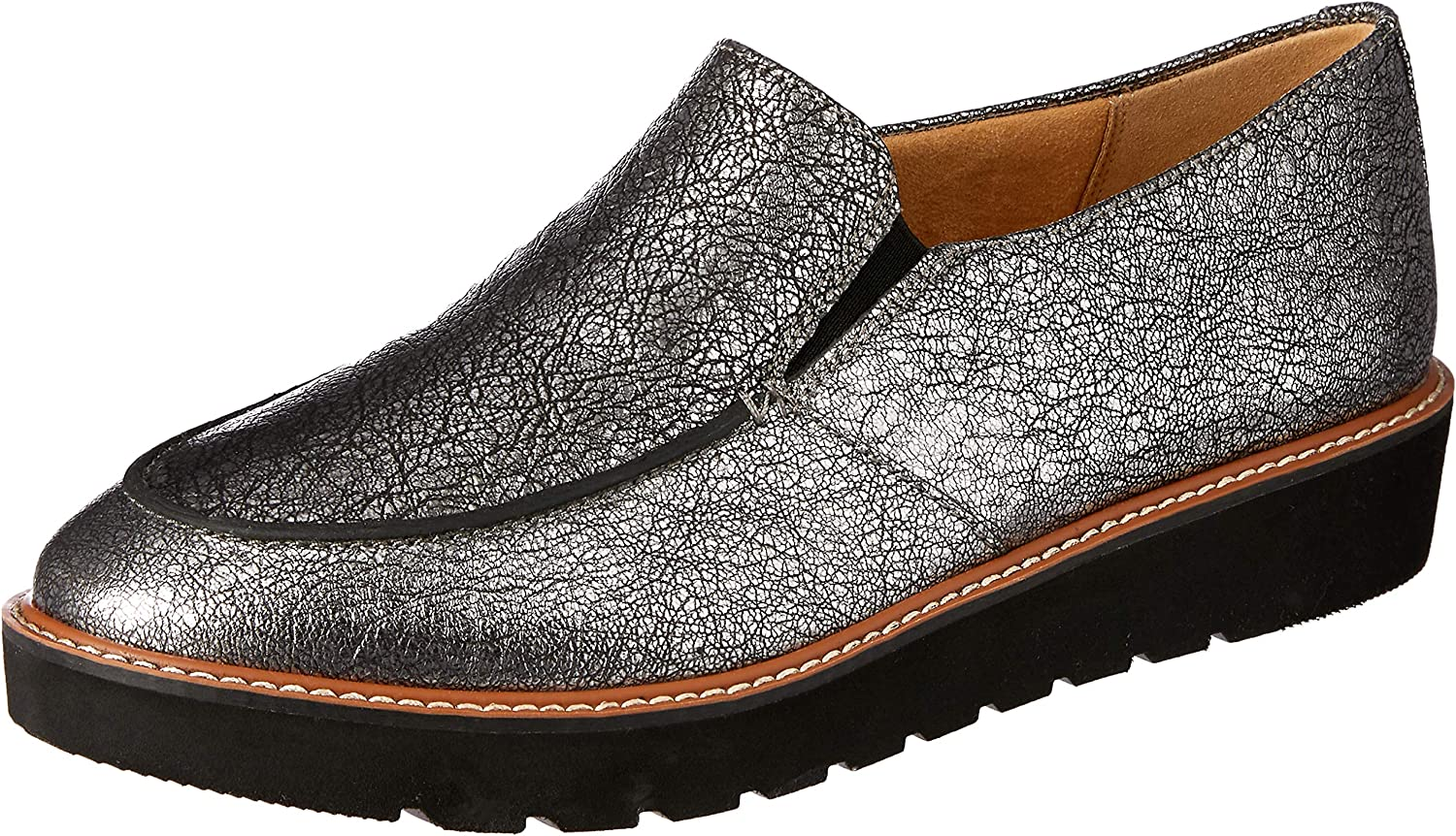Naturalizer Aibileen Slip-On Loafers, Silver Crackle