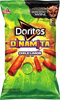 Doritos Dinamita Chile Limón Rolled Flavored Tortilla Chips, 9.25 Ounce
