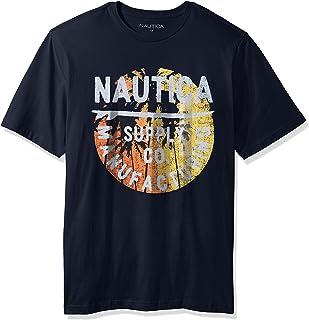 318eb0b6d Nautica Men's Tall Short Sleeve Signature Graphic Crewneck T-Shirt
