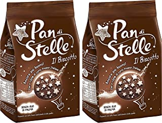 Pan di Stelle Mulino Bianco Biscuit with Cocoa, Hazelnuts 12.3 oz (350g) From Italy Pack of 2