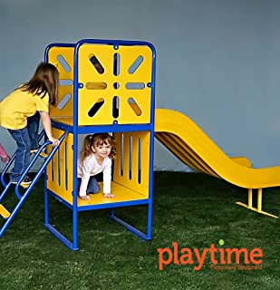 Large Tree House Playground Structure with Ladder and Slide