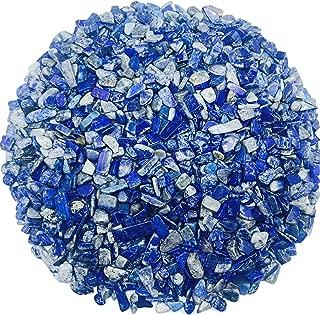 Tesh Care 2 lbs Premium Lapis Lazuli Tumbled Crystals and Clips Stones Irregular Shape 0.2
