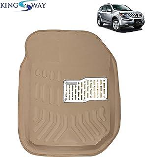 Kingsway kkm4dbg00058 4D Car Floor Mats for Mahindra Old XUV 500 (Beige, Pack of 6)