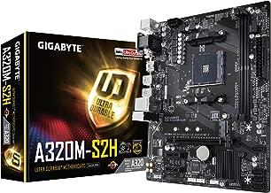 GIGABYTE GA-A320M-S2H (AMD Ryzen AM4 / MicroATX / 2xDDR4/ HDMI/ Realtek ALC887/ 3xPCIe/ USB3.1 Gen 1/ LAN/ Motherboard) (Renewed)
