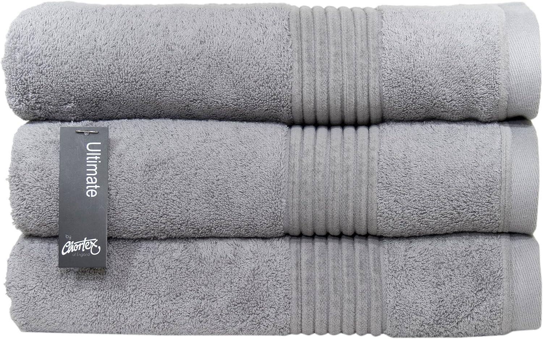 送料無料でお届けします Chortex Zero Twist Cotton Bath 新作 人気 Towel 3 Pewter Pack of