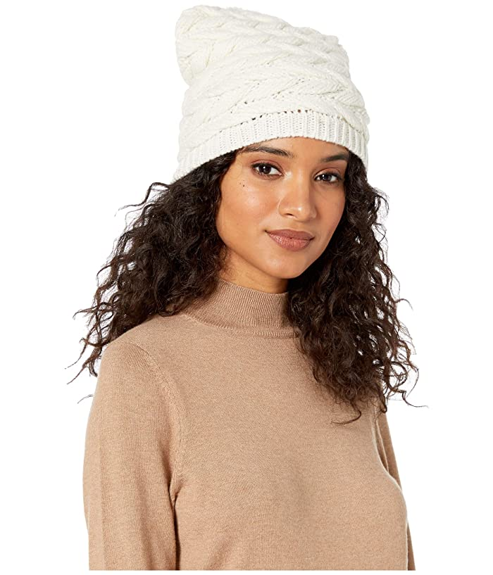 UGG  Cable Hat with Pom (Ivory) Beanies