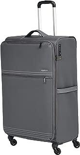AmazonBasics Lightweight Luggage, Softside Spinner Travel Suitcase with Wheels - 32 Inch, Grey
