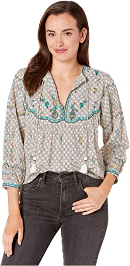 e65bb963d84ecf Lucky brand embroidered peasant top | Shipped Free at Zappos
