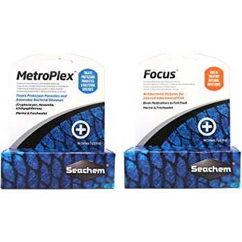 Seachem Aquarium Water Treatment Set - MetroPlex & Focus (5g Each) by Seachem