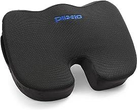 Plixio Cojín de asiento de espuma viscoelástica – Almohada para silla para ciática, coxis, alivio del dolor de espalda y c...