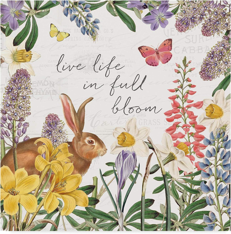 Trademark Fine Art Easter Garden II by Katie Pertiet, 14x14