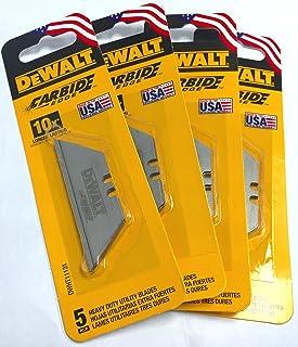 DeWalt Carbide Edge Utility Knife Blades – Last 10x Longer (20-Pack)