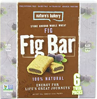 Nature's Bakery Whole Wheat Fig Bar, 6 Bars (Pack of 12)