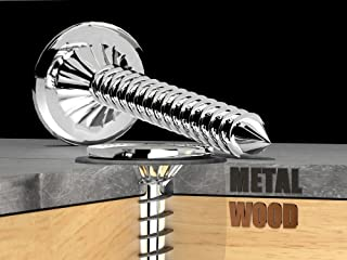 #10 x 2 Self Sealing Metal Roofing & Siding, Metal to Wood Screw with EPDM Rubber Seal, a Bag of 100 Screws (Polar White)