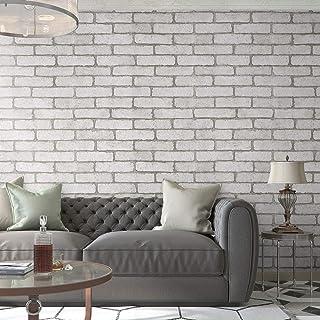 KINLO 0.6 * 5M Papel Adhesivo Pintado Impermeable con diseño de ladrillo vintage de PVC para Decorar y Proteger Pegatina p...