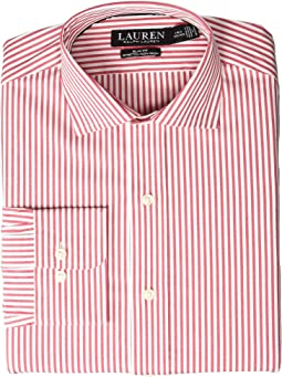 Non-Iron Slim Fit Stretch Poplin Holiday Dress Shirt